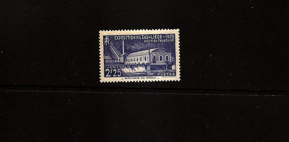 FRANCE Yvert 430  Scott 388 Water Conference 1939 MLH