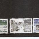 FRANCE Celebrated Personalities Semi Postal Scott B560/62/64 Yvert 2329/30/32 NH