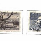 NETHERLANDS  202-203 Curacao tercentenary ships Fine Used