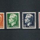 MONACO Prince Ranier Set of 4  Scott 276-79 Yvert 365-68 MLH + U