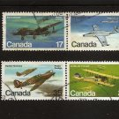 CANADA  Aircraft Airplanes- set of 2 Pairs 1980  Scott 873-876