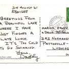 POSTAL HISTORY Ebnisee GERMANY Postcard Posted to Pattonville US Army base 1961