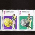 MACAU PORTUGAL  Fans Strip of 4 Scott 896a  MNH