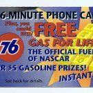 PHONECARD - 76 GASOLINE STATION - QUEST  USED - NO VALUE