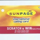PHONECARD - SINGAPORE SUNPAGE Intl Calling Card $10 2003 -  USED - NO VALUE
