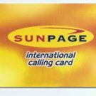 PHONECARD - SINGAPORE SUNPAGE Intl Calling Card $10  -  USED - NO VALUE