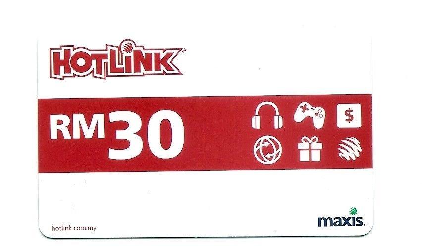 TELEPHONE CARD - MALAYSIA - Maxis HotLink - Expired - USED - NO VALUE