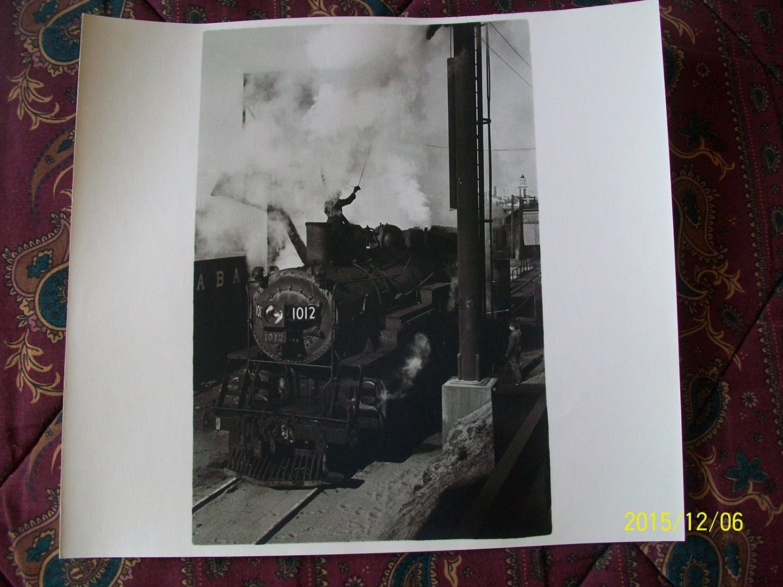 1 Photo Print RAILROAD Railway 1950 Steam Locomotive