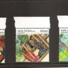 MALAYSIA Aboriginal Peoples Set of 3 2010 MNH Scott 1324-26