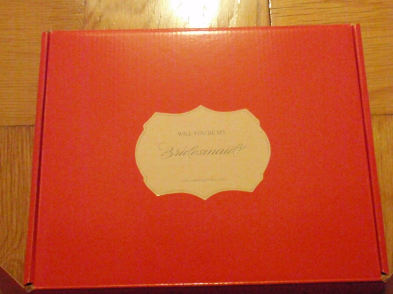 BRIDESMAID Gift Box EMPTY  11 x 8 1/2 x 3