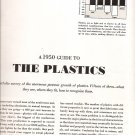 A 1950s GUIDE TO THE PLASTICS - Magazine article
