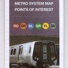 Washington METRO Subway GUIDE Fold out Large Print brochure 2016-2017