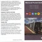 WASHINGTON DC USA METRO SUBWAY WMATA Pocket Guide Rev 4/16