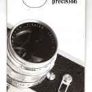 LEITZ LEICA Brochure SYMBOL OF OPTICAL PRECISION 1969 III/69/FZ/HS
