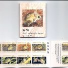 AUSTRALIA 1992 Threatened Species Booklet Scott 1246b SG 1327qa SB78c