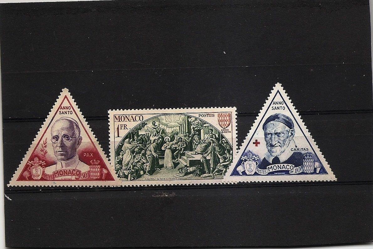 MONACO Holy Year 1951 Anno Santo Scott 353-55 Yvert 262-64 MH