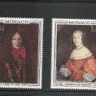 MONACO Paintings - Princes of Monaco 1970 Scott 774-75 Yvert 845-46