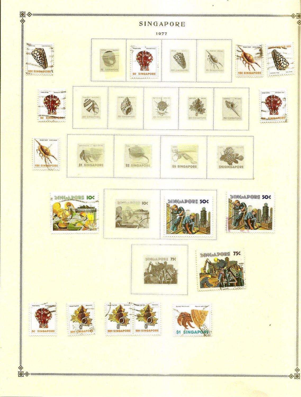 SINGAPORE Album page 1977 includes Scott 276-77 SG 302-04  Used