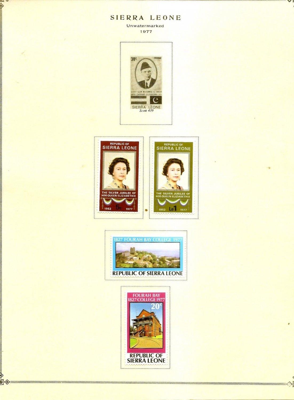 SIERRA LEONE Album page 1977 includes Scott 440-443 SG 597-600  MH