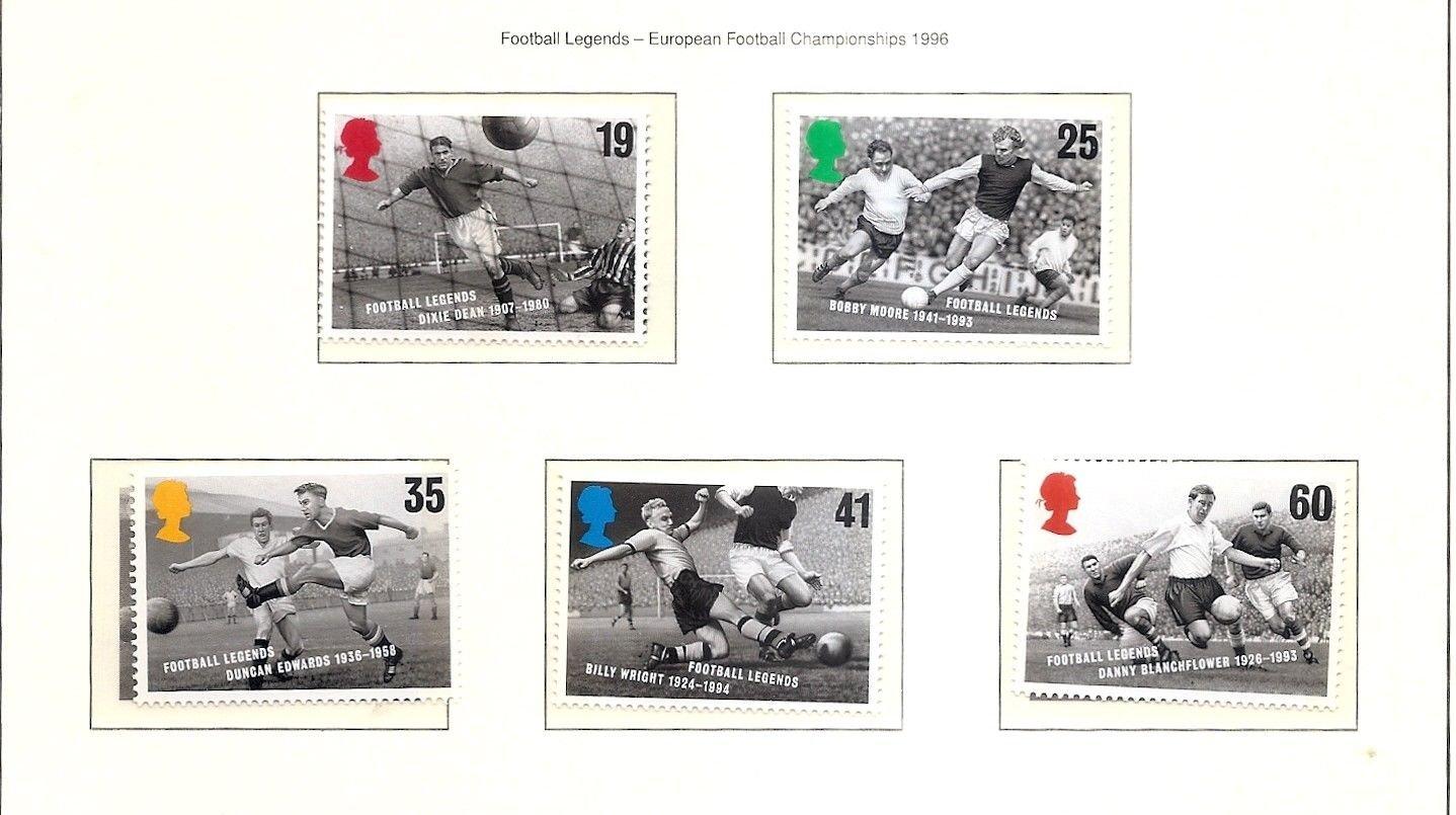 GREAT BRITAIN Football Legends1996 Set of 5 MNH Scott 1663-67  SG 1925-29