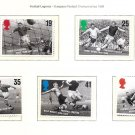 GREAT BRITAIN Football Legends1996 Set of 5 MNH Scott 1663-67  SG 1925-29