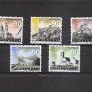 SWITZERLAND UNESCO World Heritage Sites - Set of 5  Scott 1158-62  2003