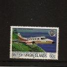 BRITISH VIRGIN ISLANDS BVI Aircraft Bandeirante Flight Scott 456 SG 515 MNH