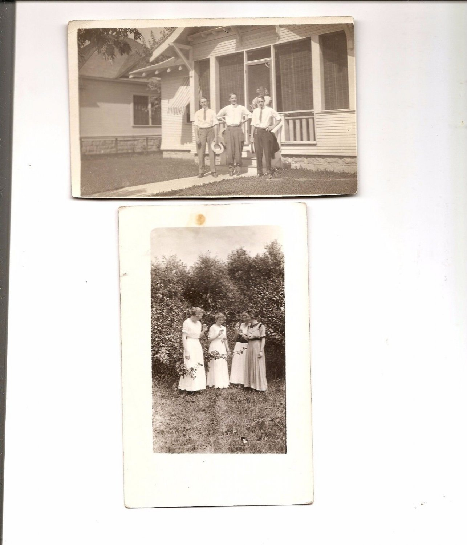 POSTCARD - Real Photos - Men and Women 1910s RPPC
