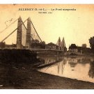 POSTCARD Allerey, FRANCE, Suspension Bridge, US soldier Mail, 1919 World War I