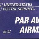 US Airmail Par Avion Etiquette Label 19-A 1997 - Self Adhesive MINT