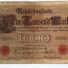 GERMANY Empire banknote paper money 1000 Marks 1910 KP 45