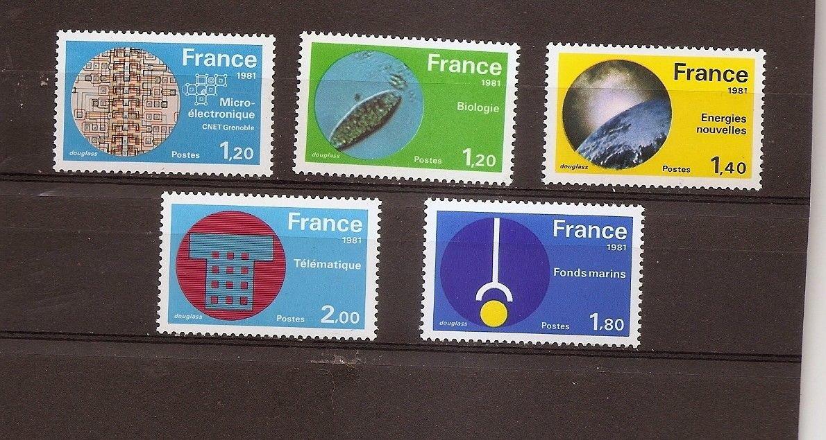 FRANCE Technology 1981 Set of 5 Yvert 2126-30 Scott 1723-27 MNH