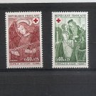 FRANCE Red Cross 1970 Set of 2 Yvert 1661-62 Scott B443-44 MNH Art - Frescoes