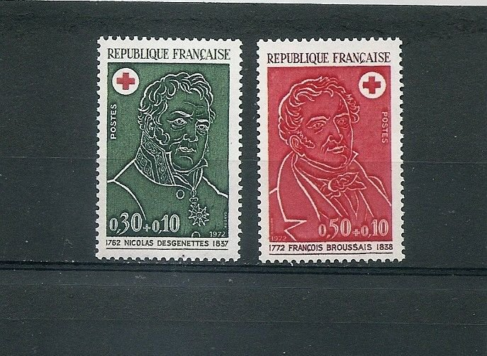 FRANCE Red Cross 1972 Set of 2 Yvert 1735-36 Scott B461-62 MNH
