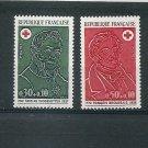 FRANCE Red Cross 1972 Set of 2 Yvert 1735-36 Scott B461-62 MNH