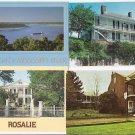 5 POSTCARDs - Natchez Mississippi USA - 4 HOUSES + RIVER