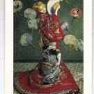 POSTCARD - LA JAPONAISE, Art by Claude Monet