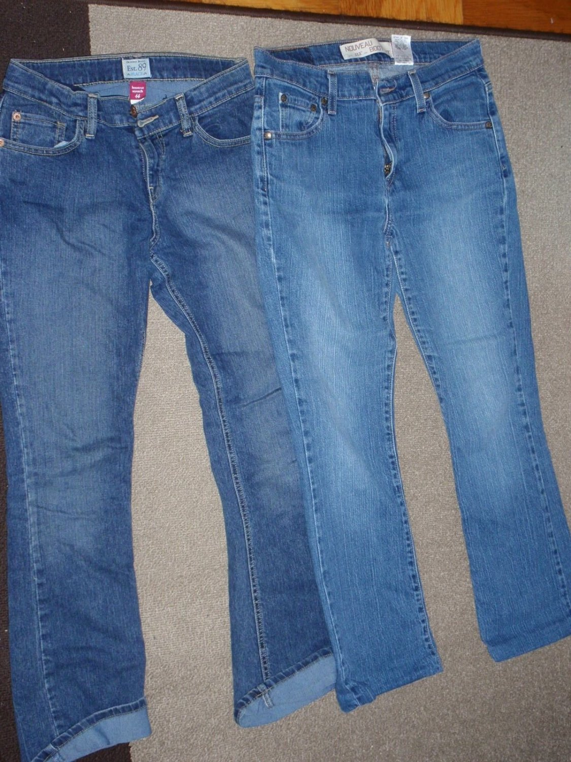 TEENS - BLUE JEANS - LEVI'S Womens 6S / Children's Place Girls 14 BOOT CUT