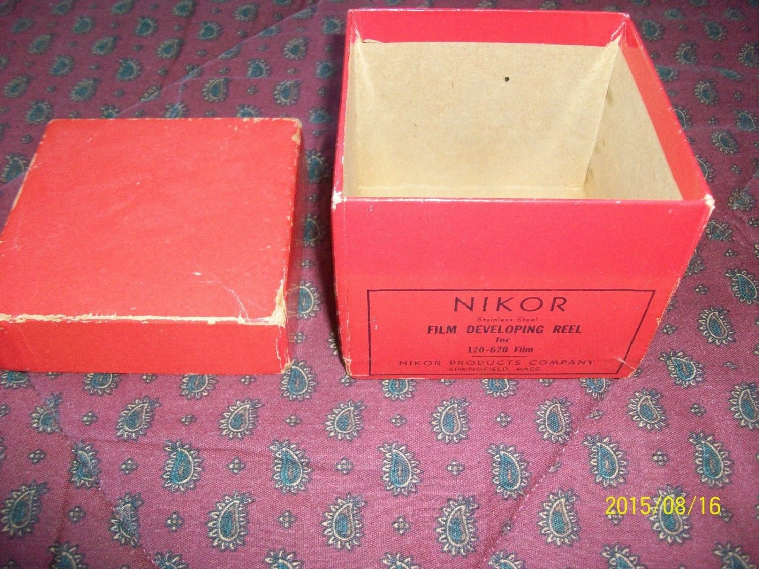 NIKOR Empty BOX for Film Developing Reel - original vintage