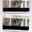 BOSTON T CHARLIE TICKETS - 7 Day 2010 / Stored Value 2008 - 2 magnetic farecards