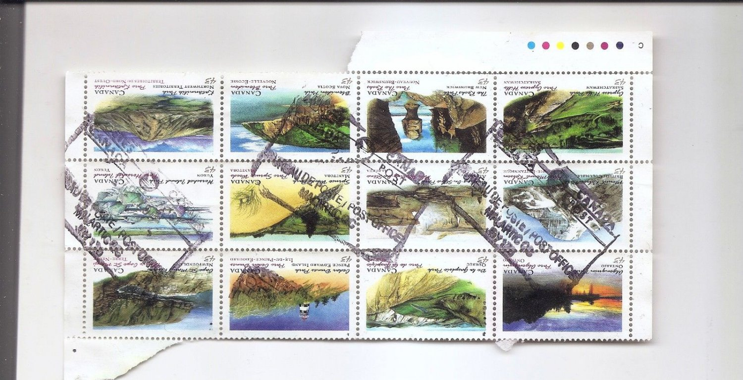 CANADA Provincial Parks - Block of 12 1993