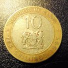 KENYA Coin 10 Shillings - Pres Moi + Seal- 1995 VG-F KM27