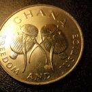 GHANA Coin 50 Cedis - Bush drums - 1999 XF KM 31a