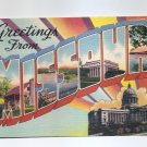 POSTCARD - GREETINGS FROM MISSOURI Colourpicture Vintage Unposted