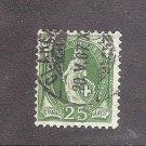 SWITZERLAND Helvetia Standing Perf 11 3/4   Used  Scott 83 Michel 59