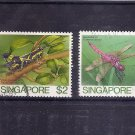 SINGAPORE Insects $2 + $5 high values 1985  Scott 462-63  SG 500-01