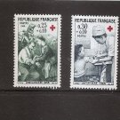 FRANCE 1966 Red Cross - Set of 2  Scott B402-3 Yvert 1508-09 MNH