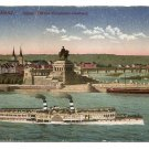 Postcard - KOBLENZ GERMANY, Kaiser monument, River steamer 1900s