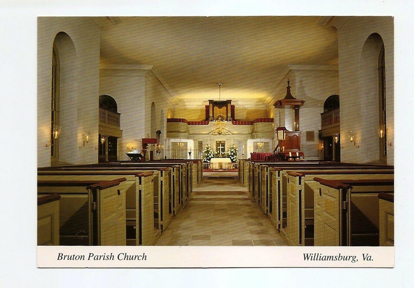 POSTCARD - Bruton Parish Church, Williamsburg Virginia 1990s
