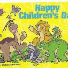 SINGAPORE Telephone card $5 SingTel CHILDRENS DAY Land Before Time USED NO VALUE